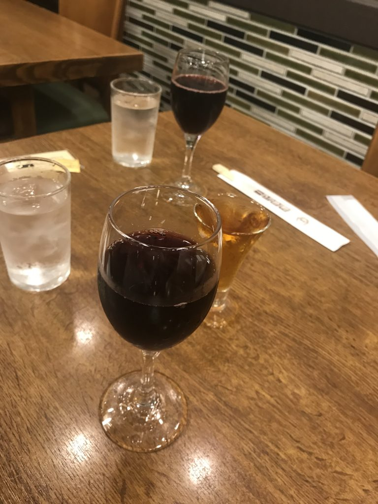 電気ブランとカミヤワイン